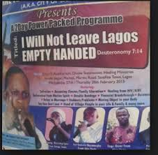 the one about leaving Lagos