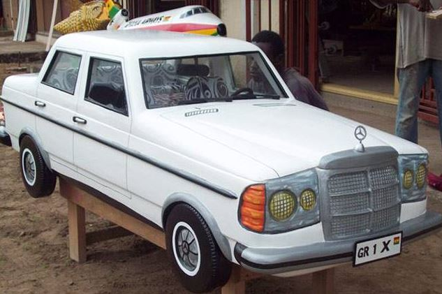 A nice vintage Benz coffin.