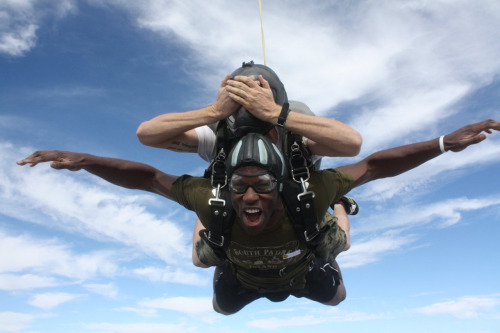 Skip work to go skydiving