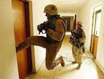 kick door