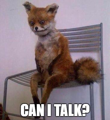can i talk