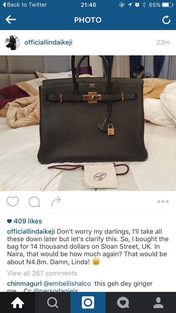 58291cf7ae1b The Case of Nigerians And Linda Ikeji s Hermes Birkin Handbag