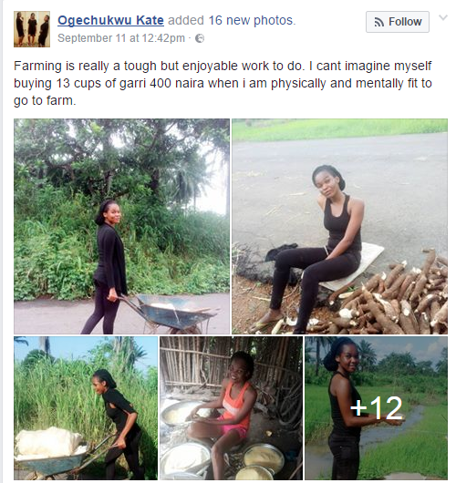 This Facebook User Has Broken The Internet With Her Garri Processing
