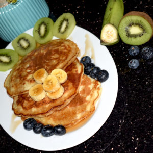 Baileys-infused banana pancakes
