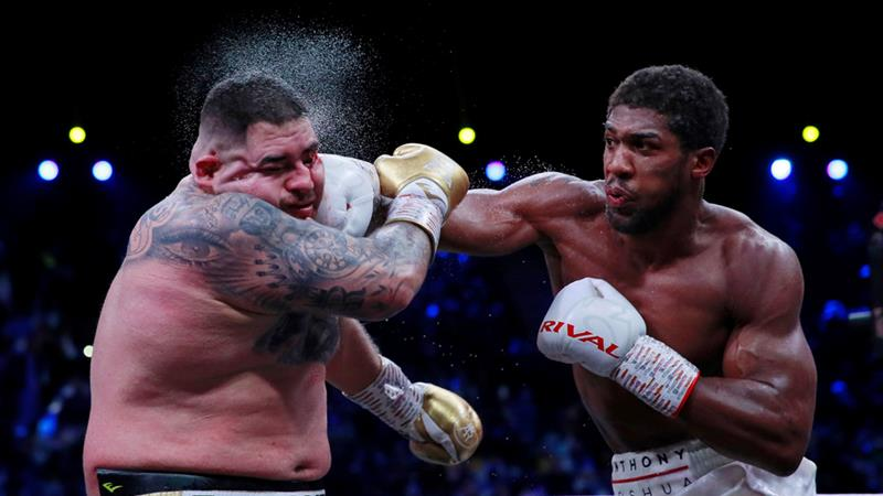 Anthony Joshua boxing Ruiz Zikoko half-naked