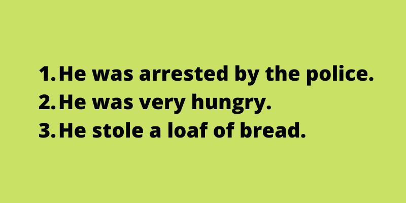 Arrange the sentences accordingly.