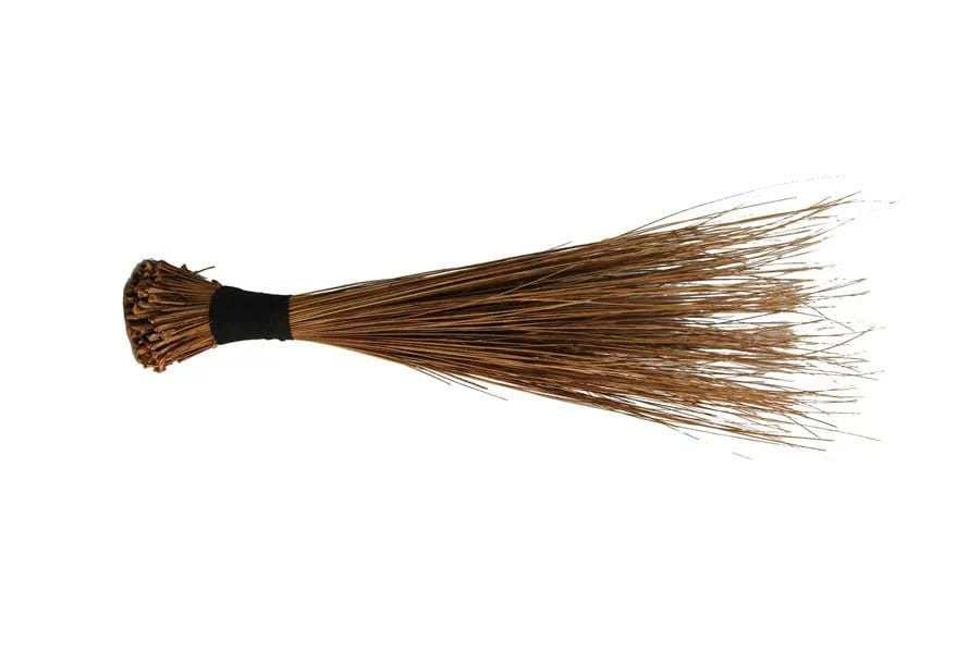 Which part of a boy is affected when you beat him with a broom?