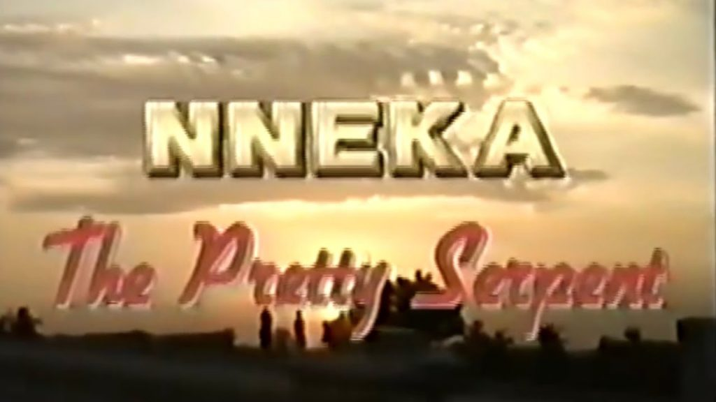 Opening title card for the movie, Nneka The Pretty serpent.