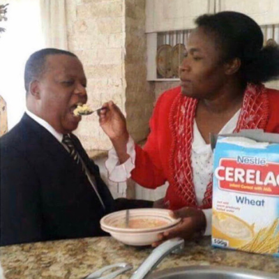 feeding a man