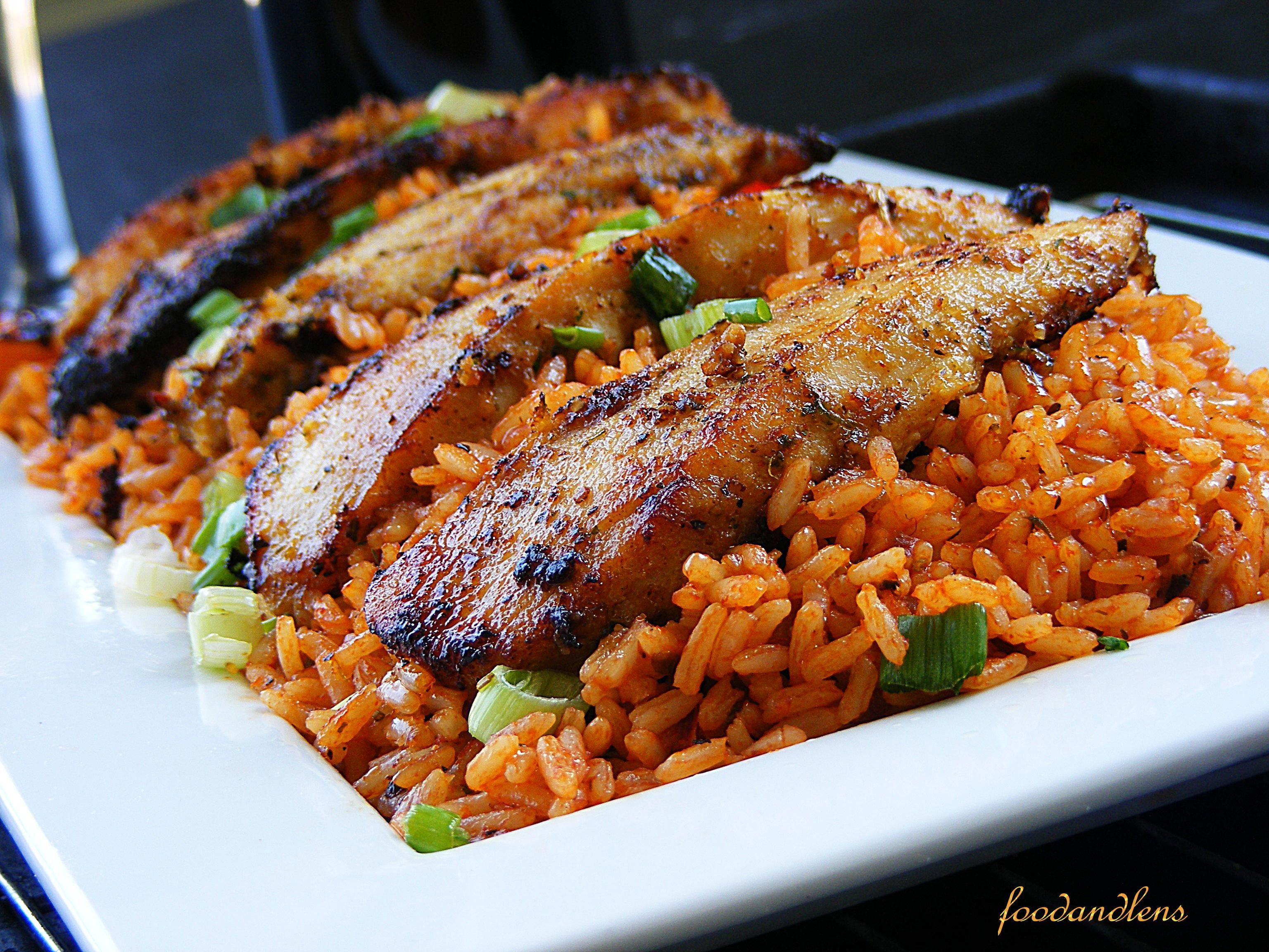 Jollof Rice and Chicken - Immaculate Bites  |Chicken And Jollof Rice