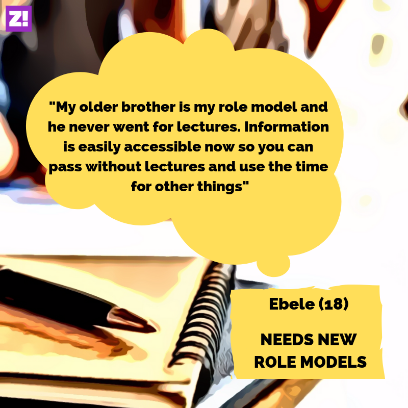 Ebele skips classes because he needs new role models